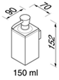 Дозатор жидкого мыла Geesa Modern Art 3516-02 настенный хром
