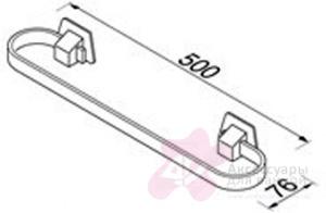 Полотенцедержатель Geesa Standard Hotel 5121-50 одинарный длиной 50 см хром