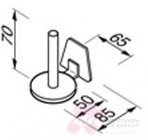 Бумагодержатель Geesa Standard Hotel 5128 для запасного рулона т/б хром