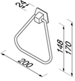 Полотенцедержатель Geesa Standard Hotel 5250 кольцо хром