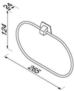 Полотенцедержатель Geesa Standard Hotel 5351 кольцо хром