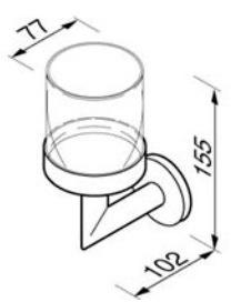 Стакан Geesa Circles 6002-02 подвесной хром