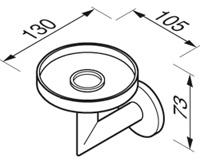 Мыльница Geesa Circles 6003-02 подвесная хром