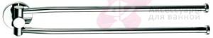 Полотенцедержатель Geesa Circles 6005-02 двойной вращаюшийся длиной L=43,6 см хром