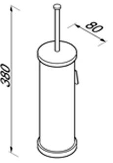 Ершик Geesa Circles 6011-02 подвесной хром