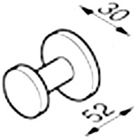 Крючок Geesa Circles 6015-02 одинарный хром