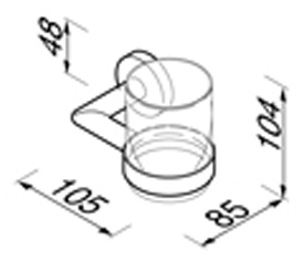 Стакан Geesa Nemox 6502-02 подвесной хром