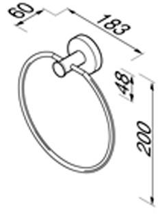 Полотенцедержатель-кольцо Geesa Nemox 6504-02 хром