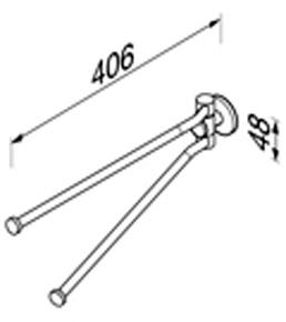 Полотенцедержатель Geesa Nemox 6505-02 двойной вращаюшийся длиной L=40,6 см хром