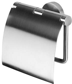Бумагодержатель Geesa Nemox Stainless Steel 6508-05 с крышкой нержавеющая сталь