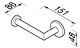 Бумагодержатель Geesa Nemox 6509-02 без крышки хром
