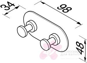 Крючок Geesa Nemox 6515-02 двойной хром