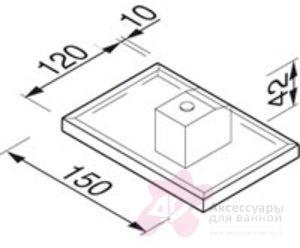Мыльница Geesa Nexx 7503-02 подвесная хром / стекло матовое