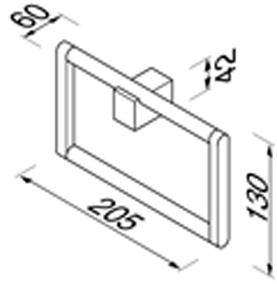 Полотенцедержатель-кольцо Geesa Nexx 7504-02 хром