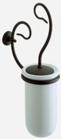 Ершик Globo Paestum PA042 для туалета металл ковка / керамика белая