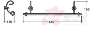 Полотенцедержатель Globo Paestum PA045 одинарный 60 см металл ковка