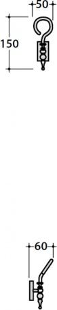 Крючок Globo Paestum PAAC43 одинарный хром