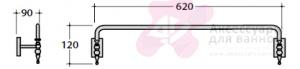 Полотенцедержатель Globo Paestum PAAC45 одинарный 60 см хром
