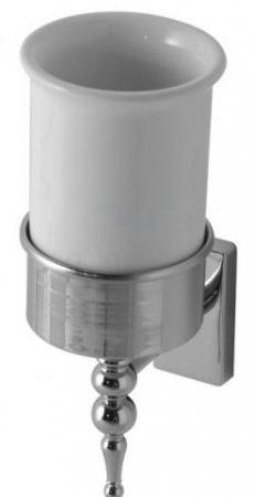 Стакан Globo Paestum PABC40 настенный хром / керамика белая