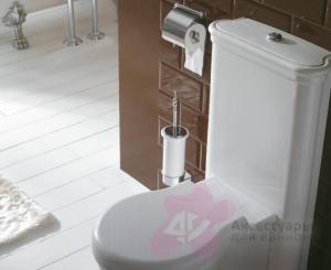 Ершик Globo Paestum PASC42 для туалета хром / керамика белая