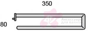 Полотенцедержатель Globo Universali UN044 двойной хром