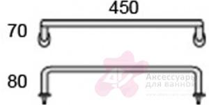 Полотенцедержатель Globo Universali UN050 одинарный 45 см хром