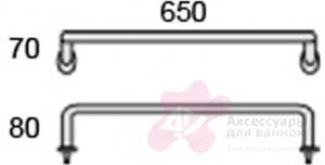 Полотенцедержатель Globo Universali UN050 одинарный 65 см хром