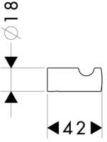Крючок Hansgrohe Logis 40511000 одинарный хром