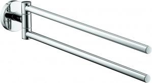 Полотенцедержатель Hansgrohe Logis 40512000 двойной хром