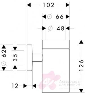Стакан Hansgrohe Logis 40518000 настенный хром / хрусталь