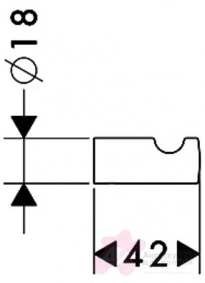 Крючок Hansgrohe Puravida 41501000 одинарный хром