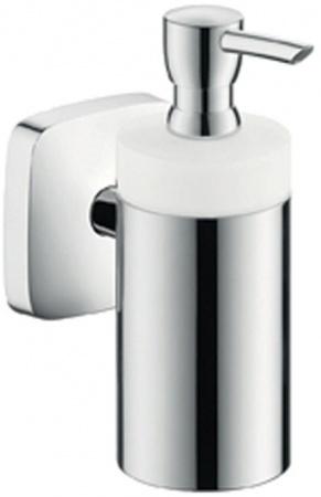 Дозатор Hansgrohe Puravida 41503000 для жидкого мыла настенный хром / керамика белая