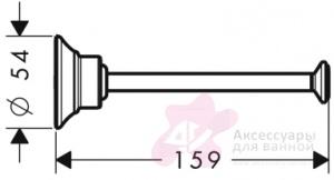 Бумагодержатель Hansgrohe Ax Montreux 42028000 открытый хром