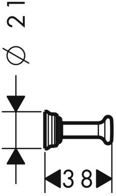 Крючок Hansgrohe Ax Montreux 42137000 CR одинарный хром