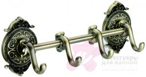 Крючки Hayta Gabriel 13902-4/BRONZE на планке (4 шт бронза