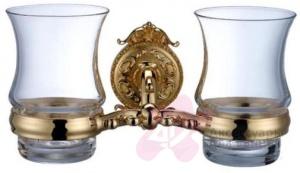Стакан Hayta Gabriel 13905G/GOLD подвесной двойной золото/стекло