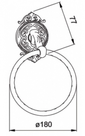 Полотенцедержатель Hayta Gabriel 13906/BRONZE кольцо бронза
