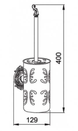 Ершик для туалета Hayta Gabriel 13907-2A/VBR подвесной Antic Brass (состаренная латунь