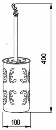 Ершик для туалета Hayta Gabriel 13907-2B/BRONZE напольный бронза