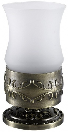 Стакан Hayta Gabriel 13916-1/BRONZE настольный бронза/стекло