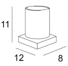 Стакан Inda Logic  A 3310Z CR настольный хром / стекло матовое