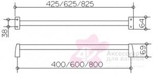 Полотенцедержатель Keuco Solo 01501 010600 одинарный 60 см хром