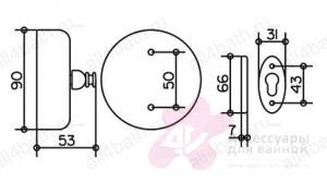 Веревка для белья Keuco Plan 04979.070001 с кронштейном хром
