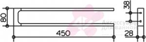 Полотенцедержатель Keuco Edition 11 11118.010000 двойной 450 мм хром