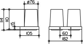Стаканы Keuco Edition 11 11151.019000 на держателе подвесные хром / хрусталь