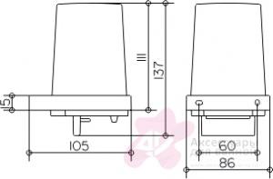 Дозатор для мыла Keuco Edition 11 11152.019000 подвесной хром