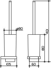 Ершик Keuco Edition 11 11164.019000 подвесной хром / хрусталь