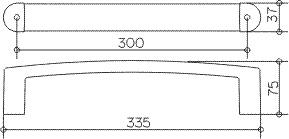 Поручень Keuco Elegance New 11607.010000 для ванны 30 см хром