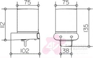 Дозатор для мыла Keuco Elegance New 11652.019000 подвесной хром / стекло матовое