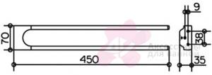 Полотенцедержатель Keuco Moll 12718.010000 двойной 450 мм хром